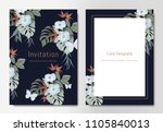 botanical wedding invitation...   Shutterstock .eps vector #1105840013