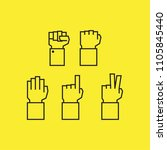 hand signs vector icon | Shutterstock .eps vector #1105845440