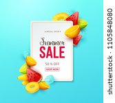 summer sale background with... | Shutterstock .eps vector #1105848080