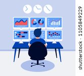 data analysis design concept.... | Shutterstock . vector #1105849229