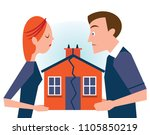 couple dividing posessions... | Shutterstock .eps vector #1105850219