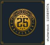 25th anniversary celebration ... | Shutterstock .eps vector #1105859576