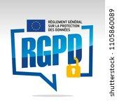 gdpr  french   rgpd reglement... | Shutterstock .eps vector #1105860089