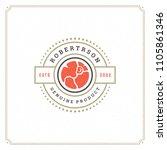 butcher shop logo design... | Shutterstock .eps vector #1105861346