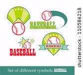 vector baseball sport design... | Shutterstock .eps vector #110586218