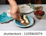 preparation of sweet italian... | Shutterstock . vector #1105863074