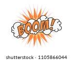 boom vector comic cloud. funny... | Shutterstock .eps vector #1105866044