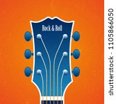 illustration with a guitar head ... | Shutterstock .eps vector #1105866050