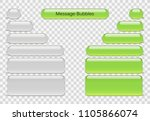 vector phone chat bubbles. sms... | Shutterstock .eps vector #1105866074