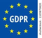 eu gdpr label illustration | Shutterstock .eps vector #1105870820