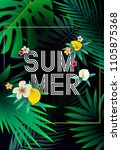 summer tropical background... | Shutterstock .eps vector #1105875368