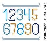 trendy vintage vector digits ... | Shutterstock .eps vector #1105879700
