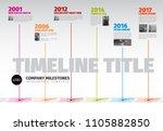 vector infographic company... | Shutterstock .eps vector #1105882850
