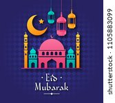 elegant high detail colorful... | Shutterstock .eps vector #1105883099