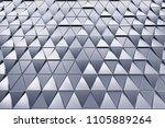monochrome abstract 3d... | Shutterstock . vector #1105889264