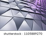 monochrome abstract 3d... | Shutterstock . vector #1105889270