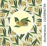 design for olive oil  natural...   Shutterstock .eps vector #1105896734