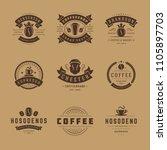coffee shop logos design... | Shutterstock .eps vector #1105897703