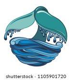 whale tale   vector illustration   Shutterstock .eps vector #1105901720