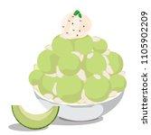 bingsu melon vector set ice... | Shutterstock .eps vector #1105902209