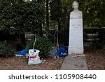 refugees and migrants rest in... | Shutterstock . vector #1105908440