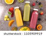 assorted fruit juice | Shutterstock . vector #1105909919