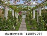 Stock photo rose arbour 110591084