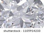 realistic diamond texture close ... | Shutterstock . vector #1105914233