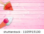 watermelon popsicle and ice... | Shutterstock . vector #1105915130