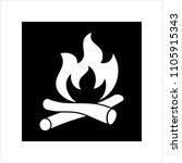 campfire icon  camp fire vector ... | Shutterstock .eps vector #1105915343