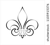 fleur de lis  fleur de lys or...   Shutterstock .eps vector #1105915376