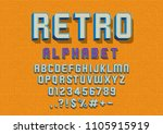 vector of retro font and... | Shutterstock .eps vector #1105915919
