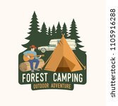 forest camping extreme... | Shutterstock .eps vector #1105916288