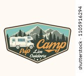 camp trip. live outdoors.... | Shutterstock .eps vector #1105916294