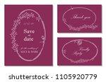 wedding invitation  rsvp  save... | Shutterstock .eps vector #1105920779