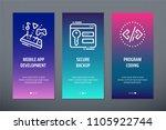 mobile app development  secure... | Shutterstock .eps vector #1105922744