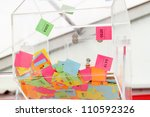 lottery wheel with multicolored ... | Shutterstock . vector #110592326