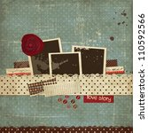 vintage scrap template with a... | Shutterstock .eps vector #110592566