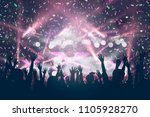 party background   crowd people ... | Shutterstock . vector #1105928270