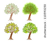 vector set of four hand drawn... | Shutterstock .eps vector #110593250