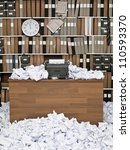 office with vintage typewriter... | Shutterstock . vector #110593370