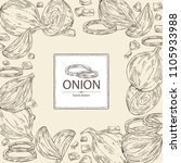 background with onion  rings ... | Shutterstock .eps vector #1105933988