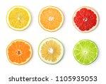 ripe lemon fruit isolated on... | Shutterstock . vector #1105935053