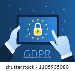 concept of general data... | Shutterstock .eps vector #1105935080