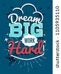 motivational typography vector... | Shutterstock .eps vector #1105935110