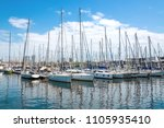 port with yachts in barcelona ... | Shutterstock . vector #1105935410