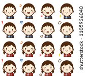 isolated set of cute elementary ... | Shutterstock .eps vector #1105936040