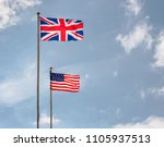 british and american flags... | Shutterstock . vector #1105937513