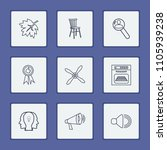pack icons set with fan ...