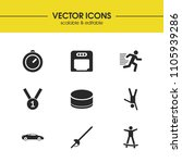 activity icons set with sword ...